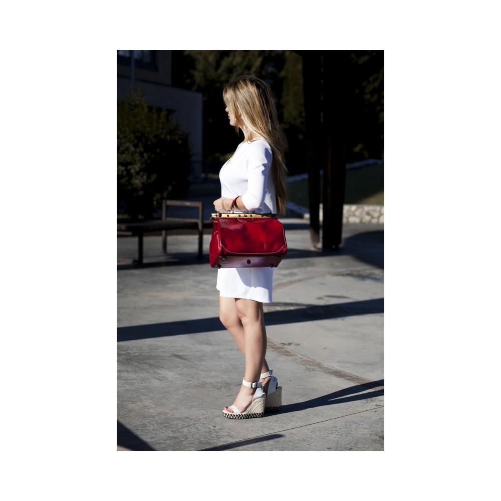 ShopSmart Borsa Donna Doctor Bag Vera Pelle Medico Handbag Manici E Tracolla Giallo Borsa Medico In Pelle Donna Borsa Medico Borsa Dottore