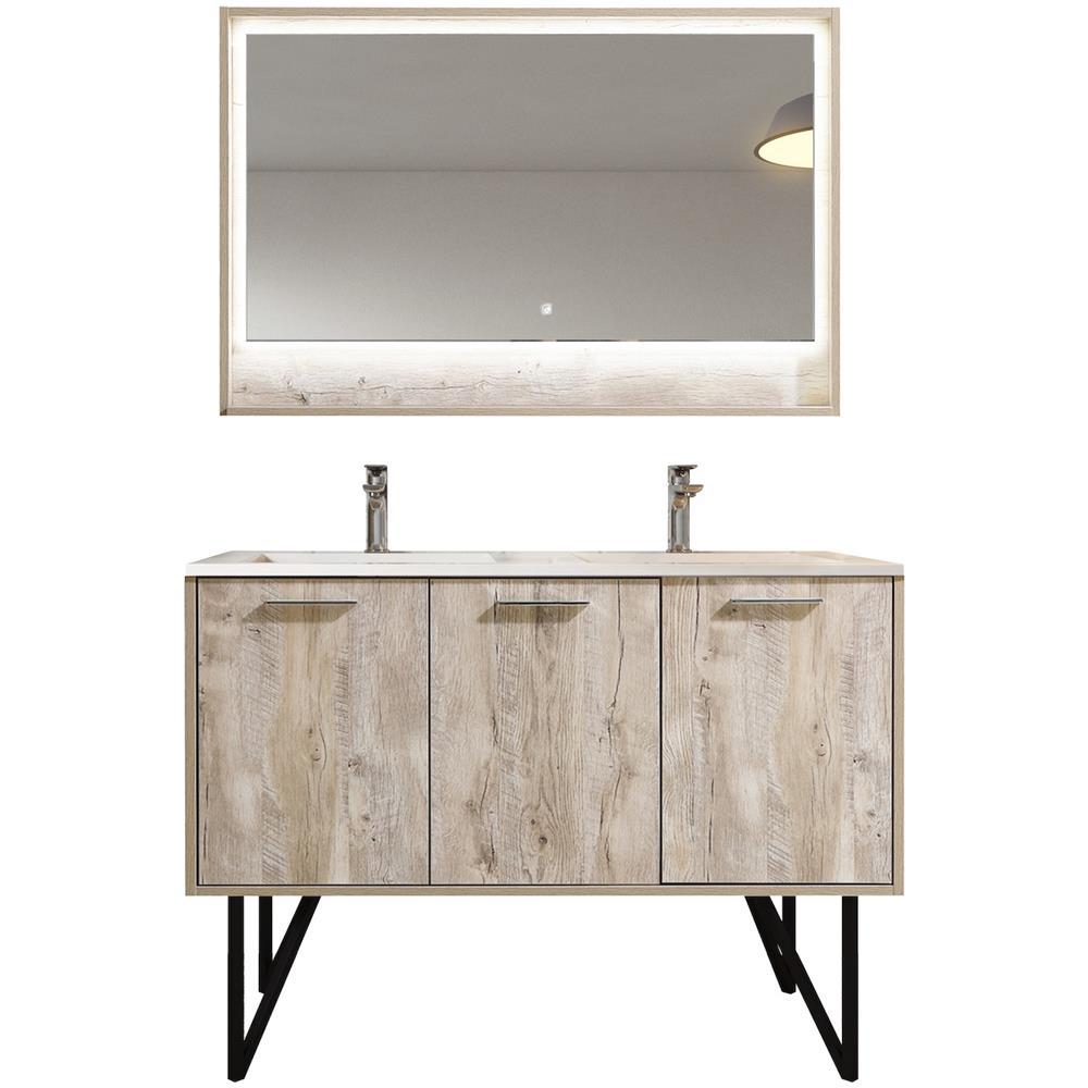 Mobile Specchio Da Bagno.Badplaats Mobili Da Bagno Tulum 120cm Nature Wood Armadio