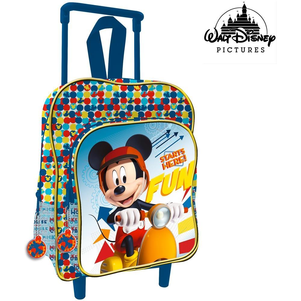 ac167ad7f6 TrAdE shop Traesio® - Zaino Trolley Mickey Topolino Disney Asilo Scuola  Bambini Viaggi Altezza 30 Cm - ePRICE