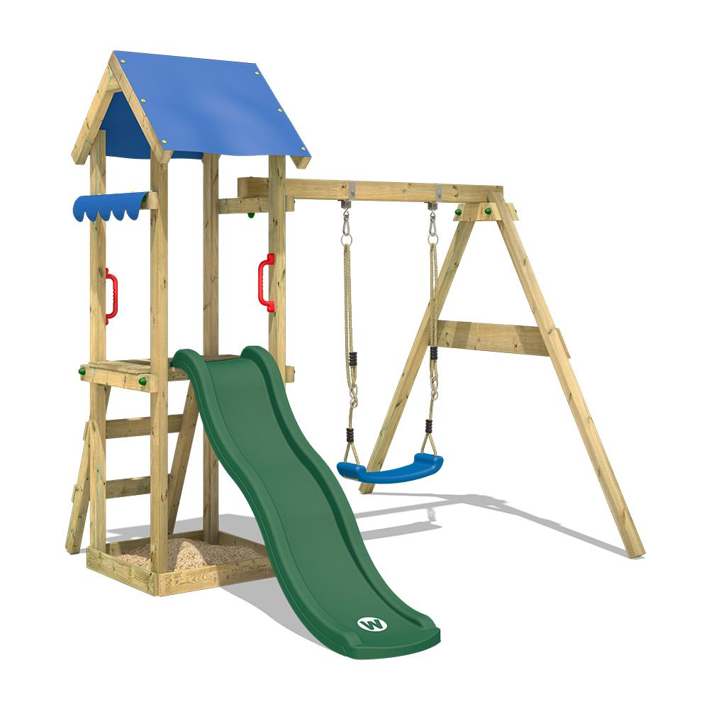 08b8962e49 WICKEY - Parco Giochi Tinywave Gioco Da Giardino Per Bambini Con Altalena.  Scivolo. Sabbiera. Tetto - ePRICE