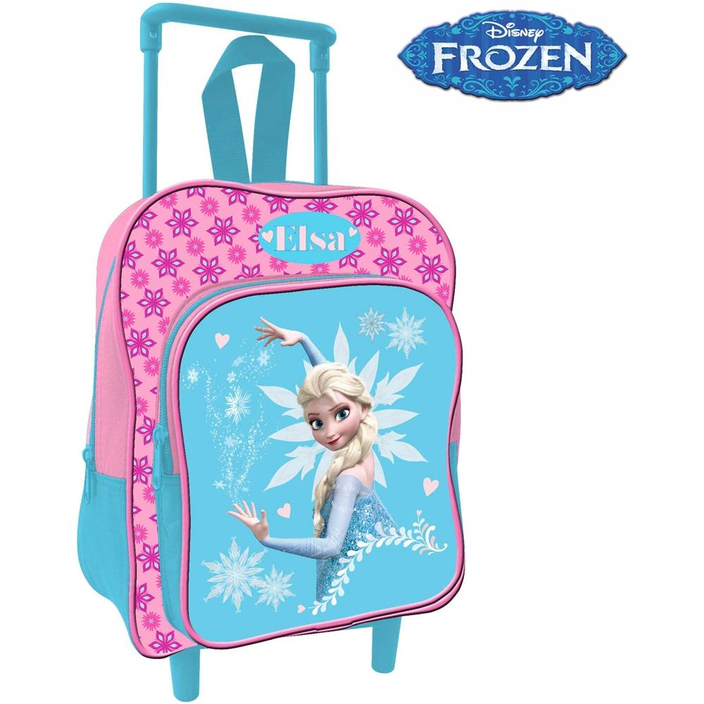 ad2cd9ad09 TrAdE shop Traesio® - Zaino Trolley Frozen Elsa Disney Asilo Scuola Bambine  Viaggi Alto 30 Cm - ePRICE