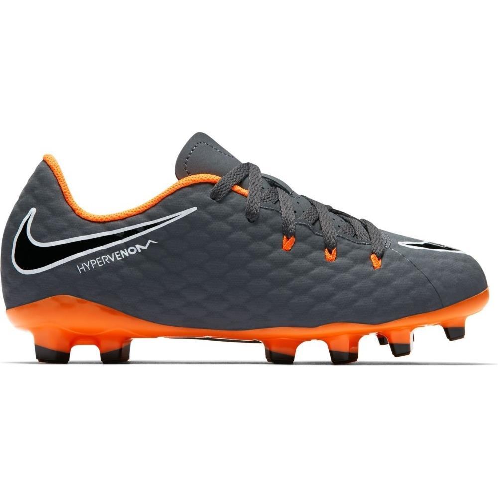 NIKE Scarpe Calcio Bambino Nike Hypervenom Phantom Iii Academy Fg Fast Af Pack Taglia 35 Colore: Grigio arancio