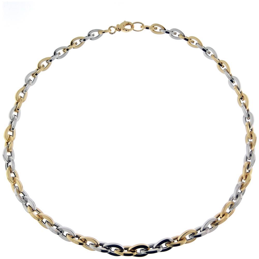 sito affidabile 31855 65bd1 GIOIELLI AURUM Collana Girocollo Da Donna In Argento 925 Bicolore Bianco E  Giallo Oro