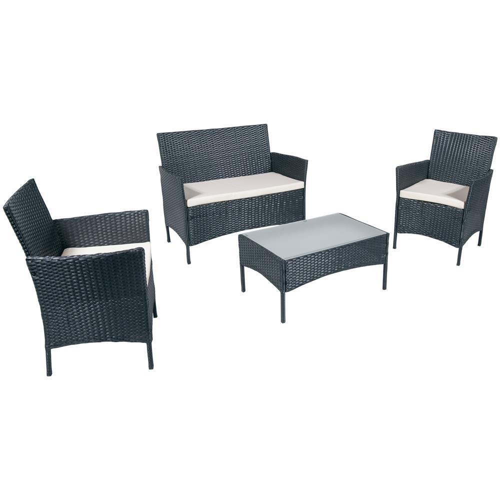 Set Tavolo E Sedie Da Giardino Rattan.Set Di Tavoli E Sedie Da Esterno Articoli Per Il Giardino E L