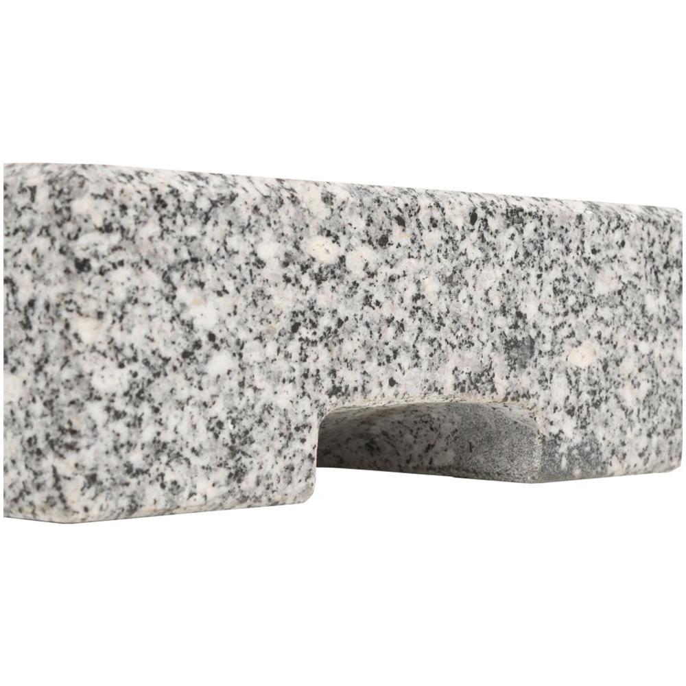 vidaXL Base per Parasole in Granito Rettangolare 25 kg Supporto per Ombrellone