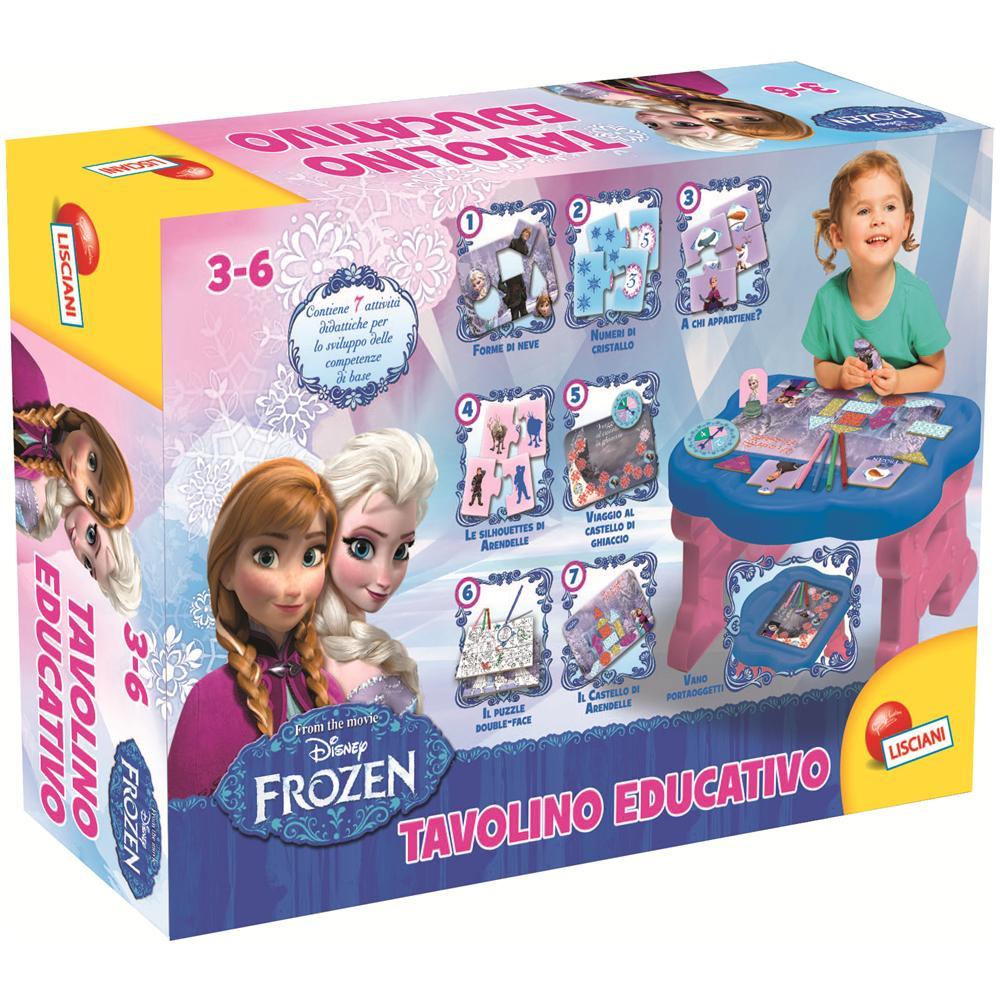 Tavolino Educativo Frozen.Lisciani Giochi 46805 Frozen Tavolino Educativo