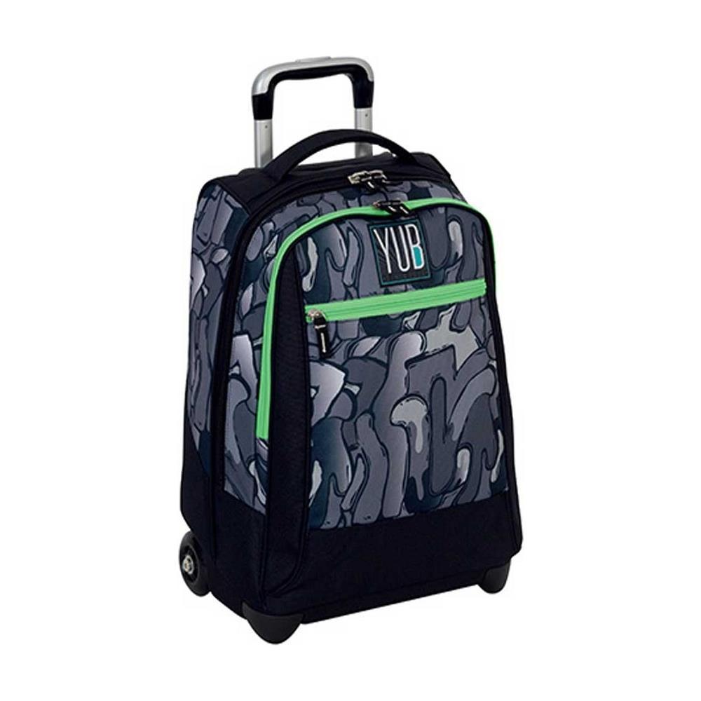 b8fa1bc840 TrAdE shop Traesio® - Zaino Trolley Yub Murales Boy Grigio Nero Ragazzi  Scuola Viaggi - ePRICE
