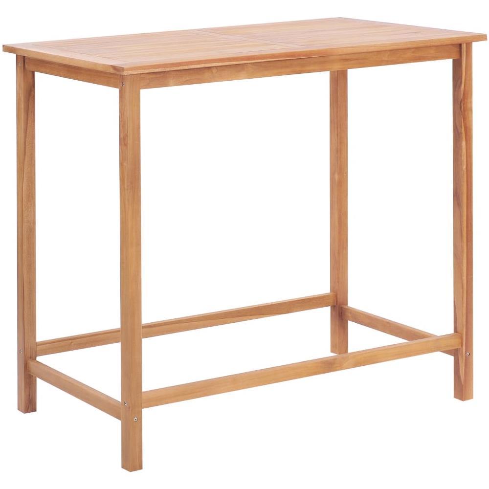 Tavoli Da Bar Per Esterno.Vidaxl Tavolo Da Bar Per Esterni 120x65x110 Cm Massello Di Teak
