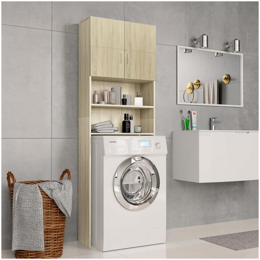 Mobile Da Esterno Per Lavatrice vidaxl mobile per lavatrice rovere sonoma 64x25,5x190 cm in truciolato