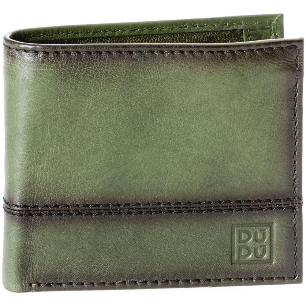 ce43527b06 DuDu - Portafoglio Uomo Piccolo In Vera Pelle Con Portamonete E Tasca  Interna Con Zip Dudu Verde - ePRICE