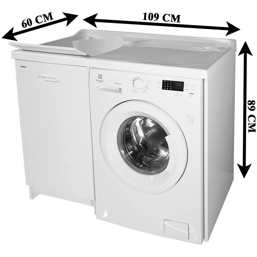 Mobile Proteggi Lavatrice Da Esterno arredamenti montegrappa edilla mobile lavatoio copri lavatrice  coprilavatrice destra dx vasca sinistra sx misura 109x60x89 cm colore  bianco base