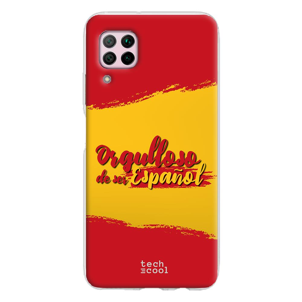 Techcool Cover, Custodia Per Huawei P40 Lite L Silicone Bandiera Spagna Proud