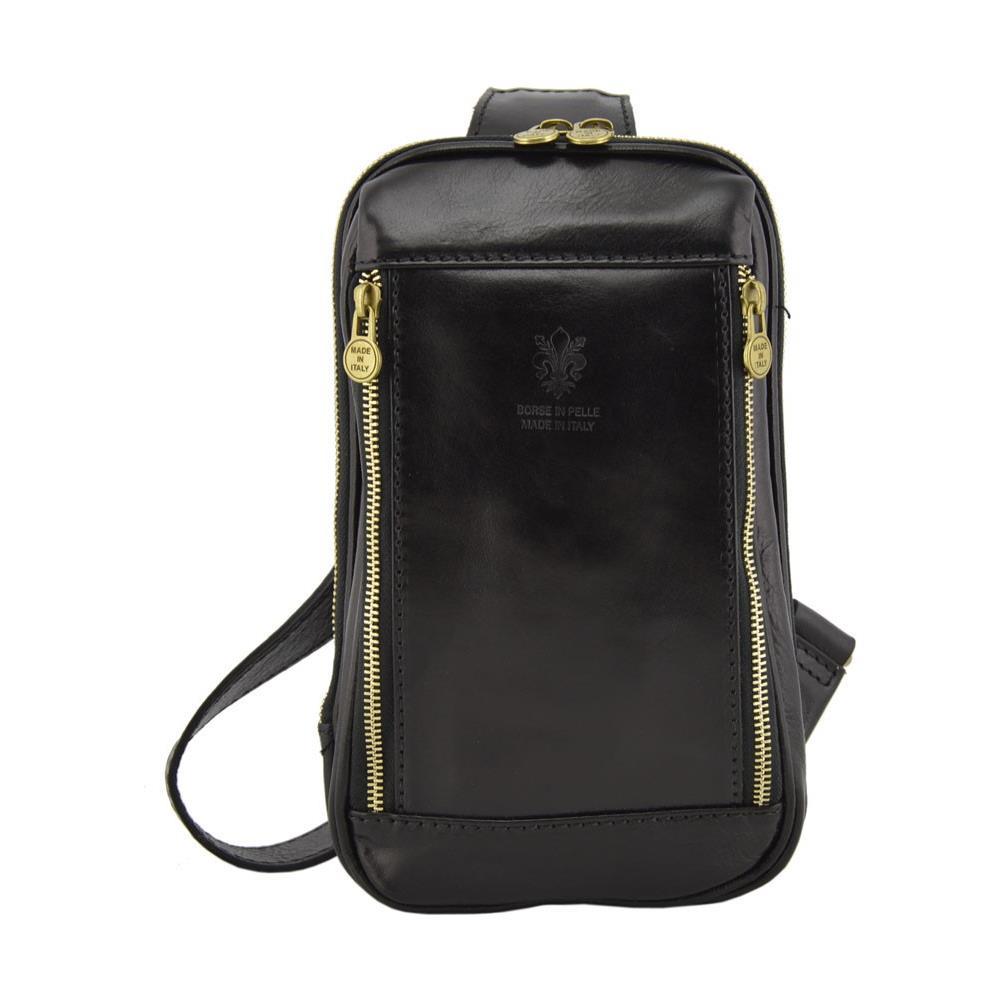 c3c907399e Dream Leather Bags - Borsello Monospalla In Vera Pelle Colore Nero - Pelletteria  Toscana Made In Italy - Borsa Uomo - ePRICE