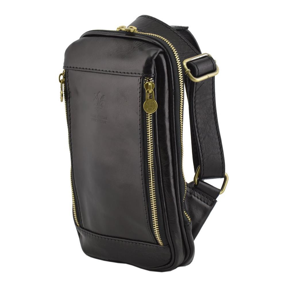 665c10151e Dream Leather Bags Borsello Monospalla In Vera Pelle Colore Nero - Pelletteria  Toscana Made In Italy - Borsa Uomo