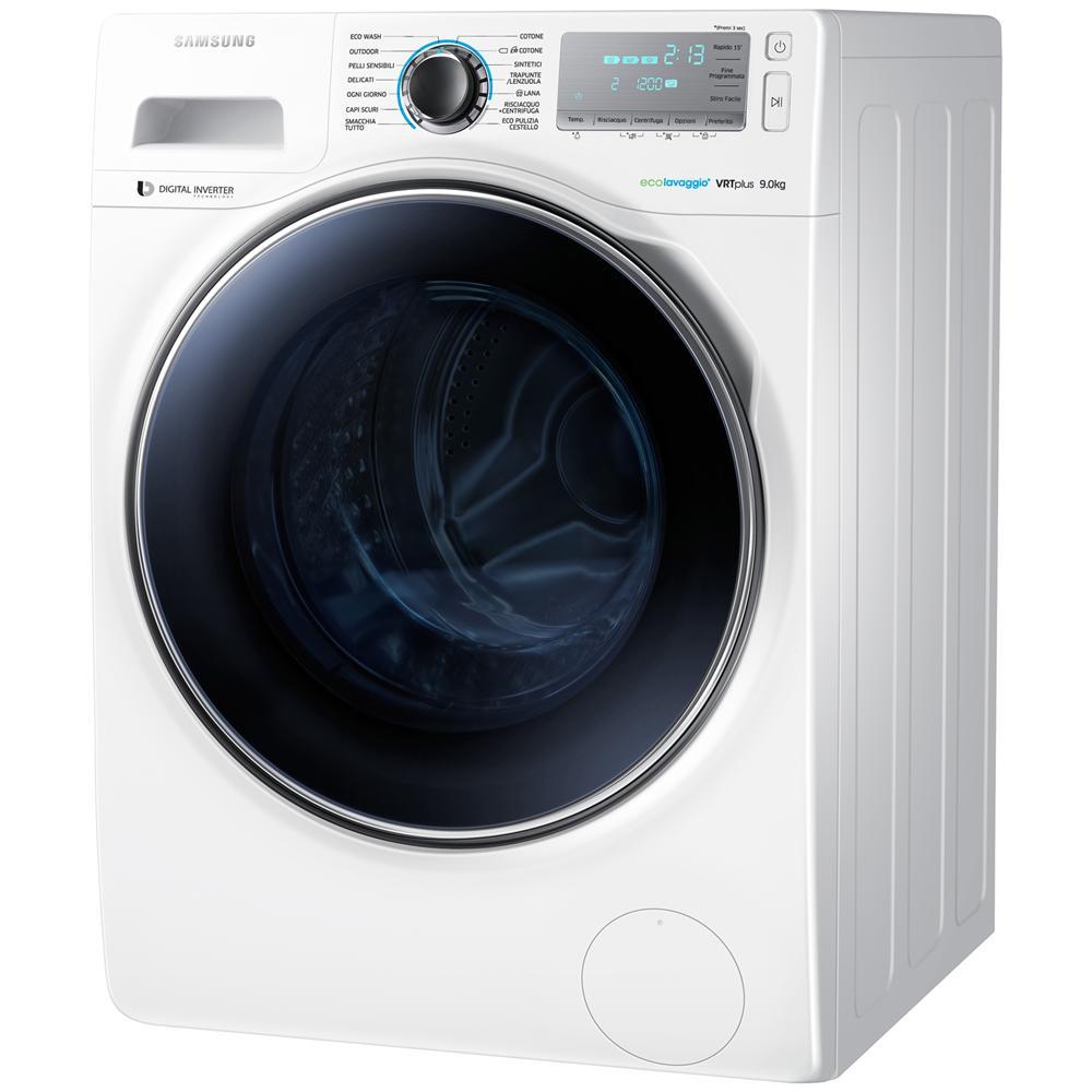 Samsung lavatrice standard ww90h7600ew crystal blue 9 kg for Lavatrice samsung crystal blue