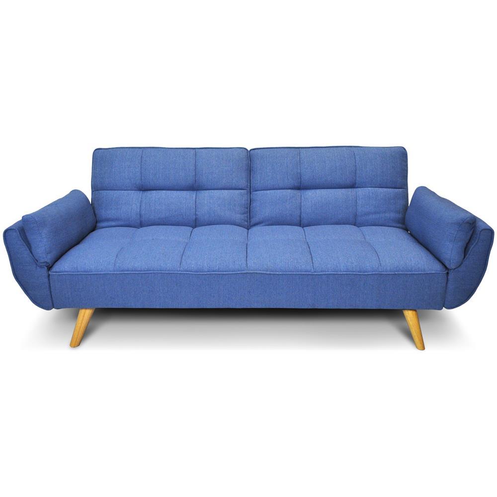 Divano Letto Blu.Samira Divano Letto Clic Clac In Tessuto Blu Cobalto Mod Ambra