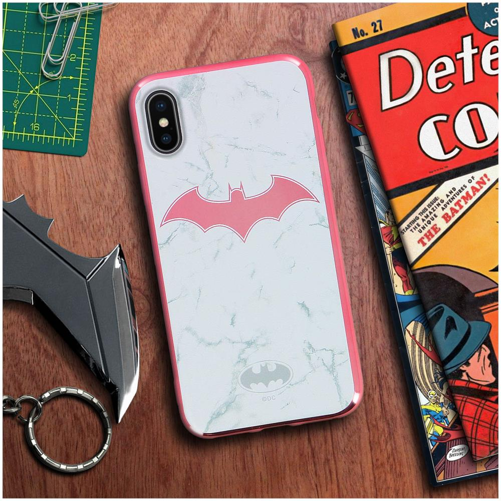 Dc Comics Cover Iphone X Xs Logo Batman Sfondo Marmo Silicone Dc