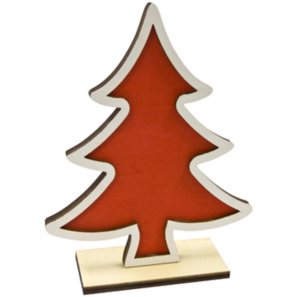 Alberello Natale.Jadeo Hobi Alberello In Legno E Rosso Natale Eprice