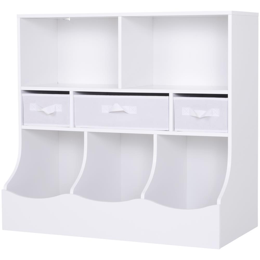 Librerie Per Camerette Bambini homcom mobiletto libreria con cassetti per cameretta bambini bianco 80 x 40  x 75 cm