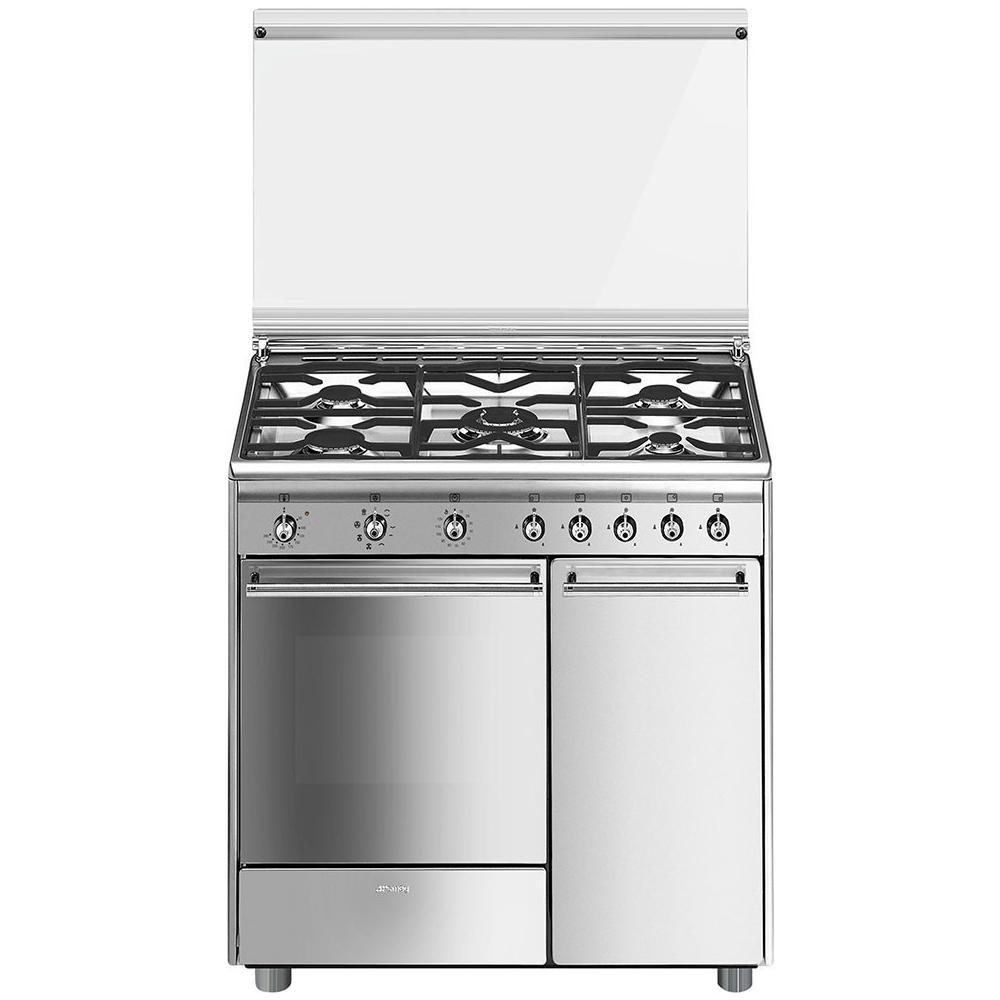 Smeg Cucina Elettrica Gascx91m 5 Fuochi A Gas Forno Elettrico