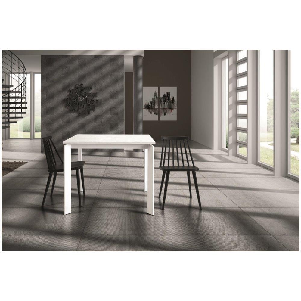 Tavolo Quadrato Allungabile Bianco.Fashion Commerce Tavolo Quadrato Bianco Allungabile 90x90cm