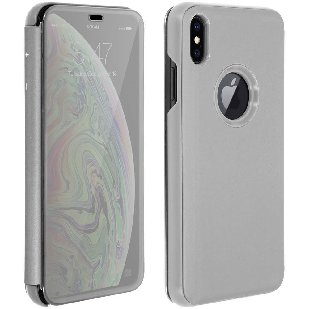 Avizar - Custodia Iphone Xs Max Flip Specchio Sottile Sportellino