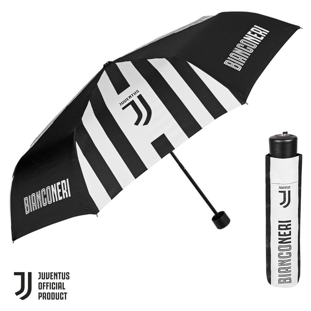 Ombrello juventus prodotto ufficiale uomo donna bambino - ombrello pieghevole juve antivento diametro 98 cm 15213A