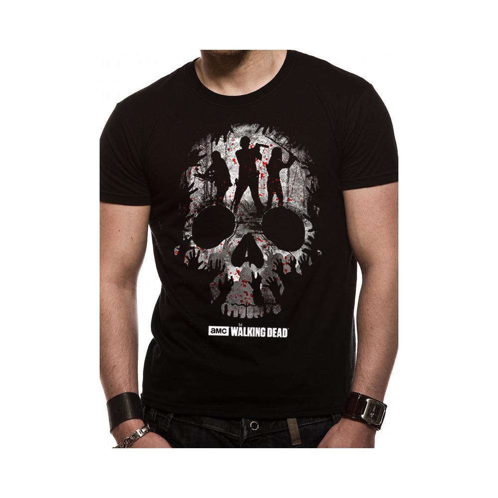 Walking Dead (The) - Trio Skull Silhouette (T-Shirt Unisex Tg. Xl)