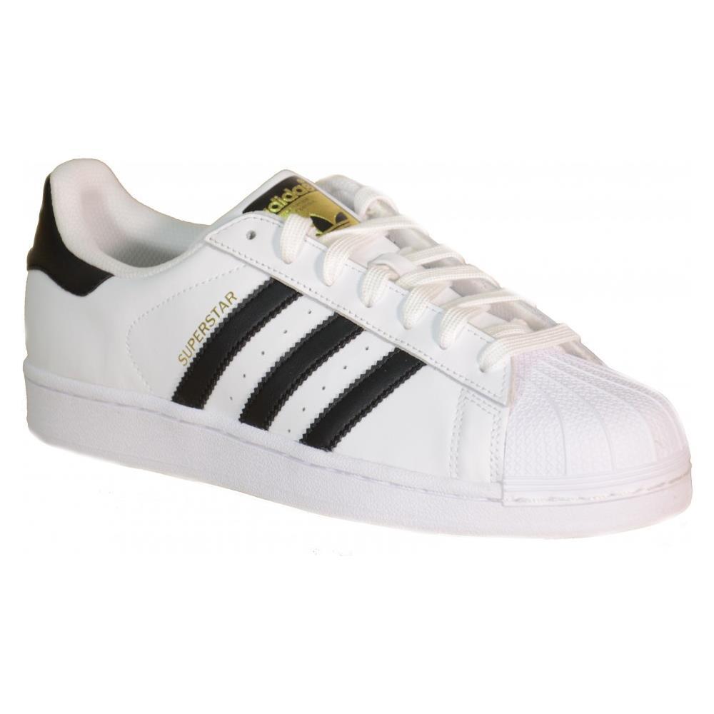 Adidas Superstar J Scarpe Bianche Pelle C77154