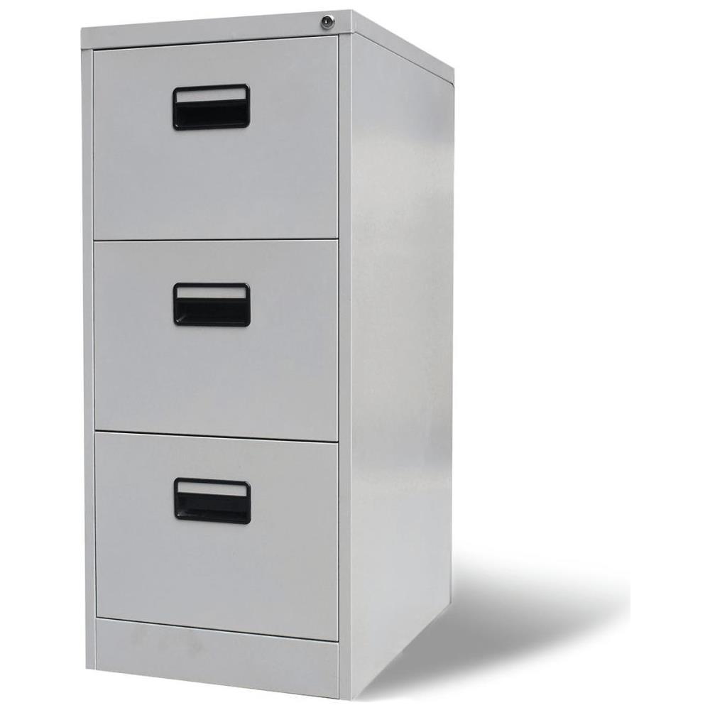 Vidaxl Schedario Per Ufficio Con 3 Cassetti Grigio Metallo Eprice