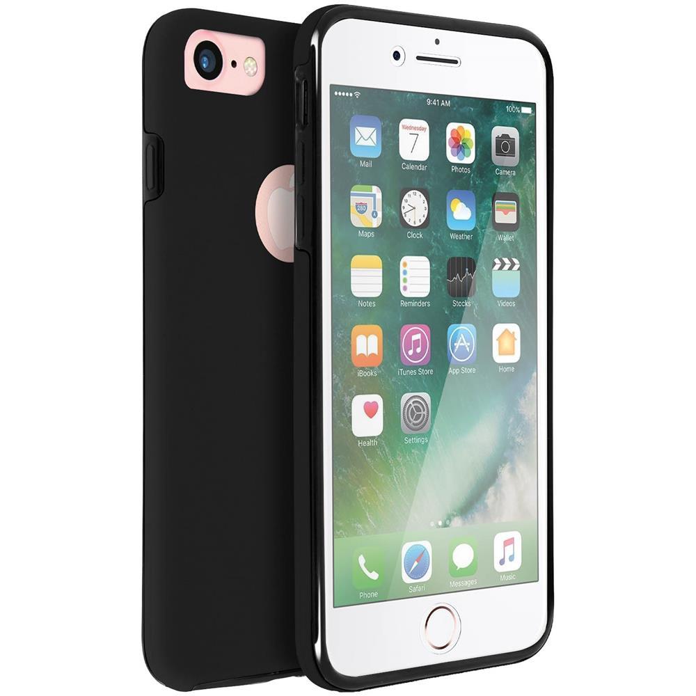 Avizar Cover Integrale Nera Retro Davanti Iphone 7 E 8