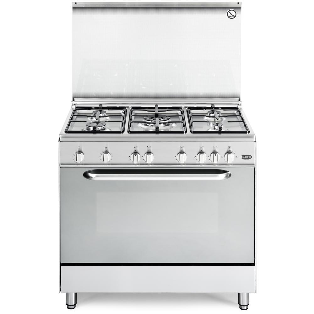 De longhi cucina a gas dgx 965 5 fuochi forno a gas - De longhi cucine modelli ...
