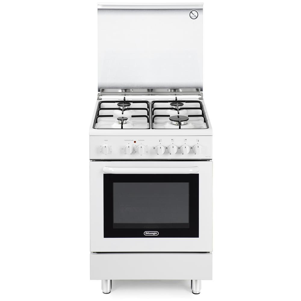 DE LONGHI - DMW 664 Linea Design Cucina a 4 Fuochi Gas Forno ...