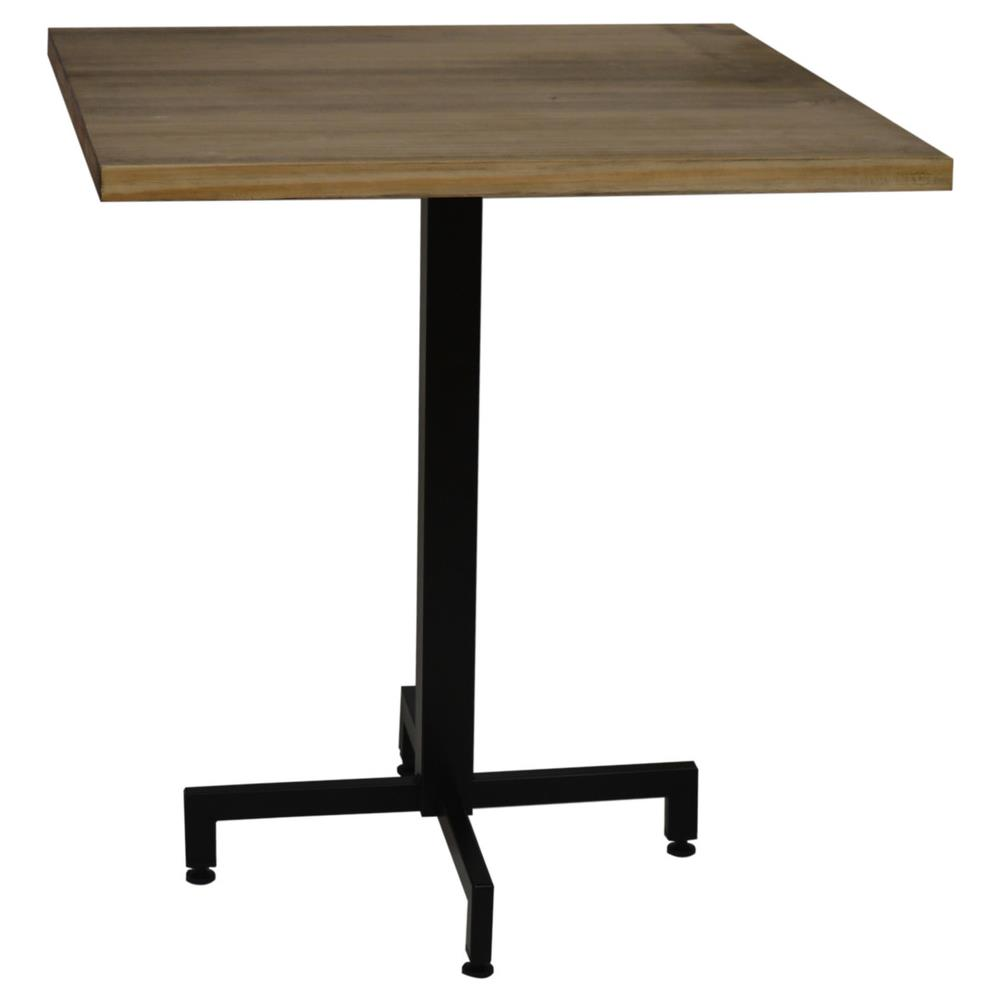 Tavolo Con Gamba Centrale dsmuebles tavolo gamba centrale nero e piano quadrato. 60x60x75h. cm