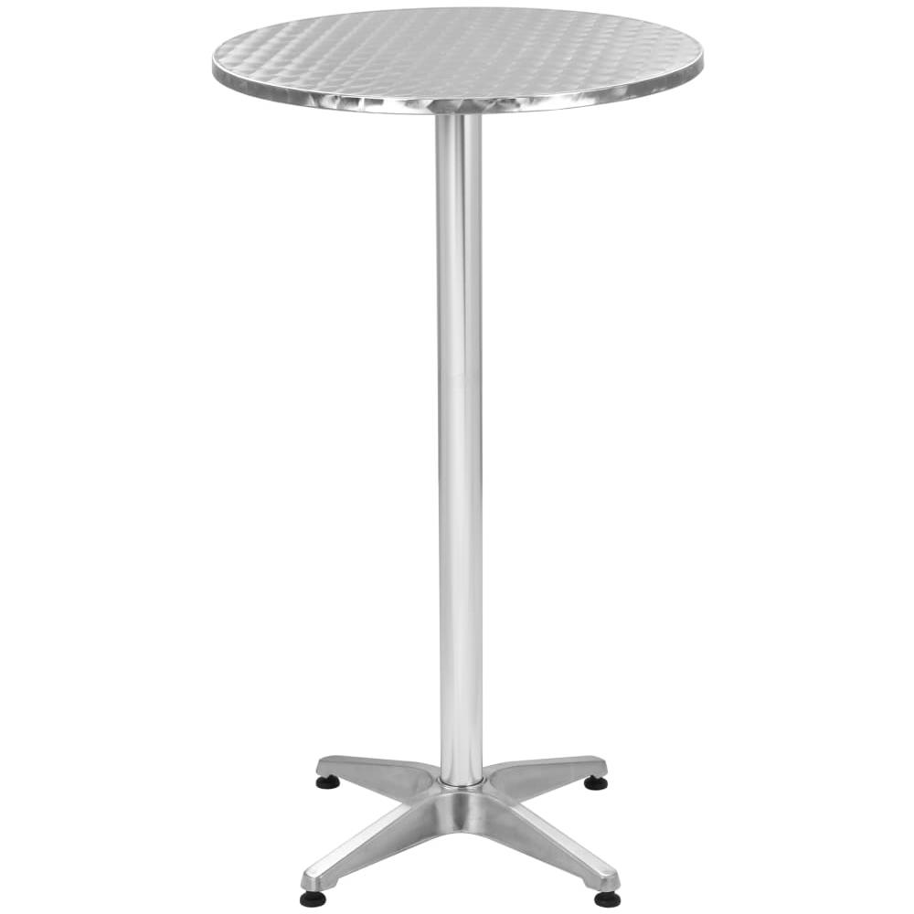 Tavoli Da Giardino In Alluminio Pieghevoli.Vidaxl Tavolo Pieghevole Da Giardino In Alluminio Argento O 60