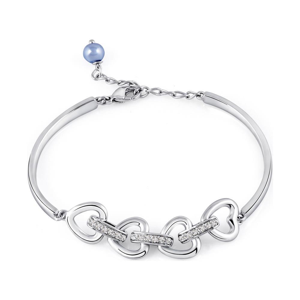 0e17e87468bb55 Blue Pearls - Cuori Braccialetto Del Braccialetto Di Cristallo Swarovski  Elements E Rhodium Placcato - Cry E121 J - ePRICE