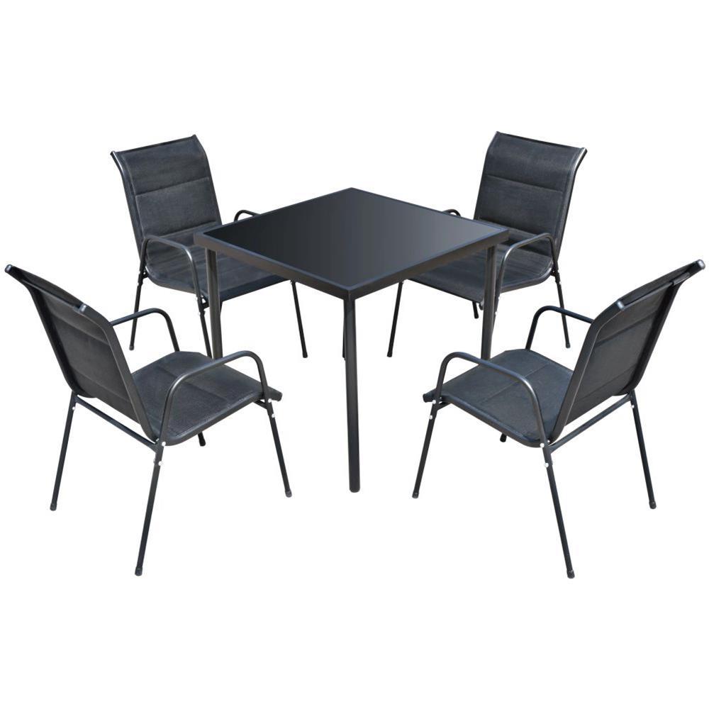 Vidaxl Set Tavolo E Sedie Da Bistro 3 Pz In Rete Acciaio Nera Bar Da Giardino Casa E Cucina Set Di Mobili