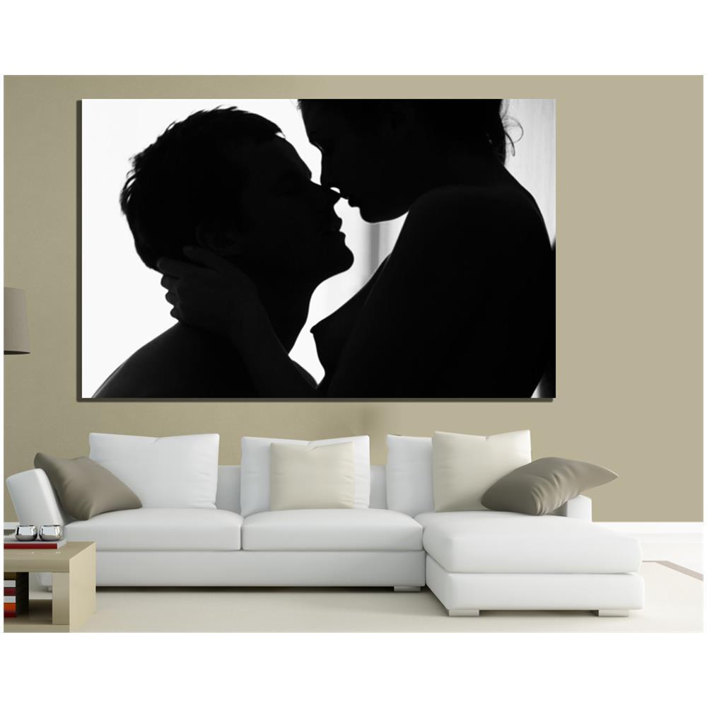 PIXEL COMUNICAZIONE - Quadri Moderni Tela 100x70 Amore Love Bianco E ...