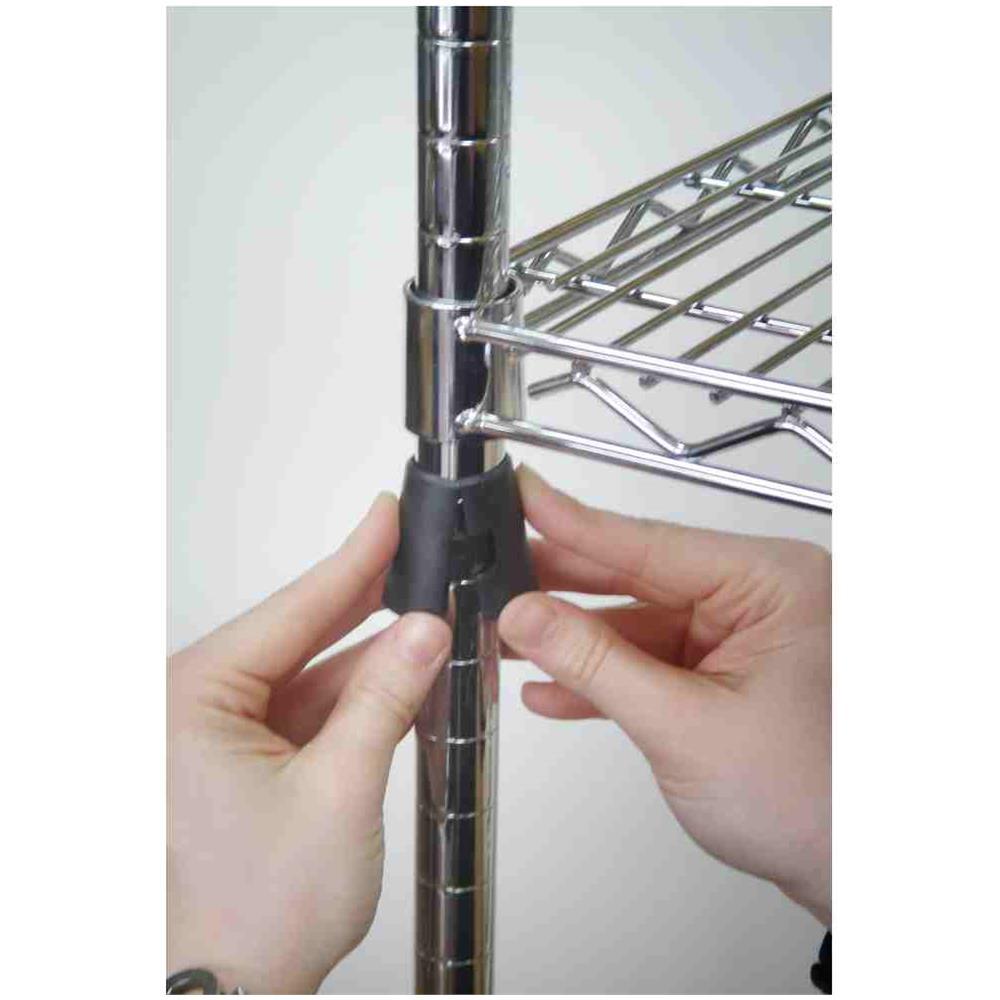 Scaffalature Cromate Componibili.Gseuromarket Ripiano Leggero 20 X 60 Cm Cromato Per Libreria Scaffalatura Espositore Componibile Serie Mini System Archimede