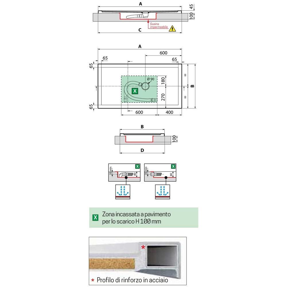 Novellini Olympic Plus Piatto Doccia Dimensione 120x80 Altezza Spessore 4 5 Cm Colore Bianco Installazione Appoggio Pavimento Superficie Liscia Materiale Metacrilato Compreso Piletta Scarico E Copri Piletta Eprice
