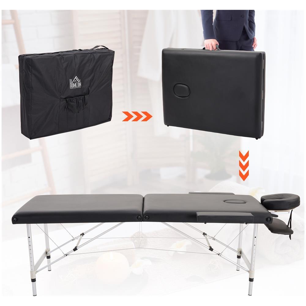Custodia Per Lettino Da Massaggio.Homcom Lettino Per Massaggio Professionale In Legno Pieghevole