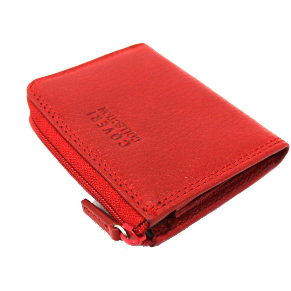bab3890552 COVERI COLLECTION Portamonete Uomo Pelle 3 Scomparti Modello Piccolo 217-265  Red