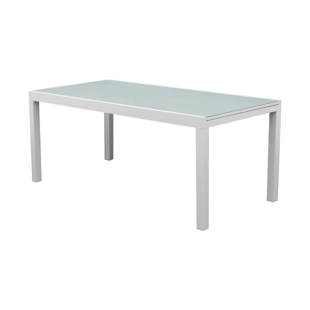 Tavoli Allungabili In Alluminio.Evergreen Tavolo Allungabile In Alluminio Piano In Vetro Eg50591