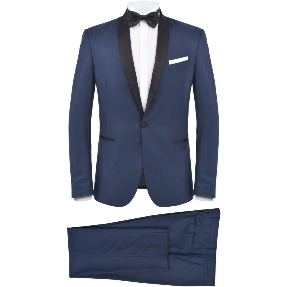 Abiti Eleganti Uomo Scontati.Vidaxl Smoking 2 Pezzi Vestito Da Cerimonia Uomo Taglia 54 Blu