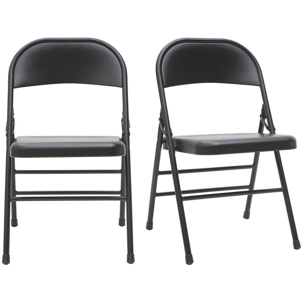 Sedie A Forma Di Sedere Costo miliboo gruppo di 2 sedie pieghevoli nere ali