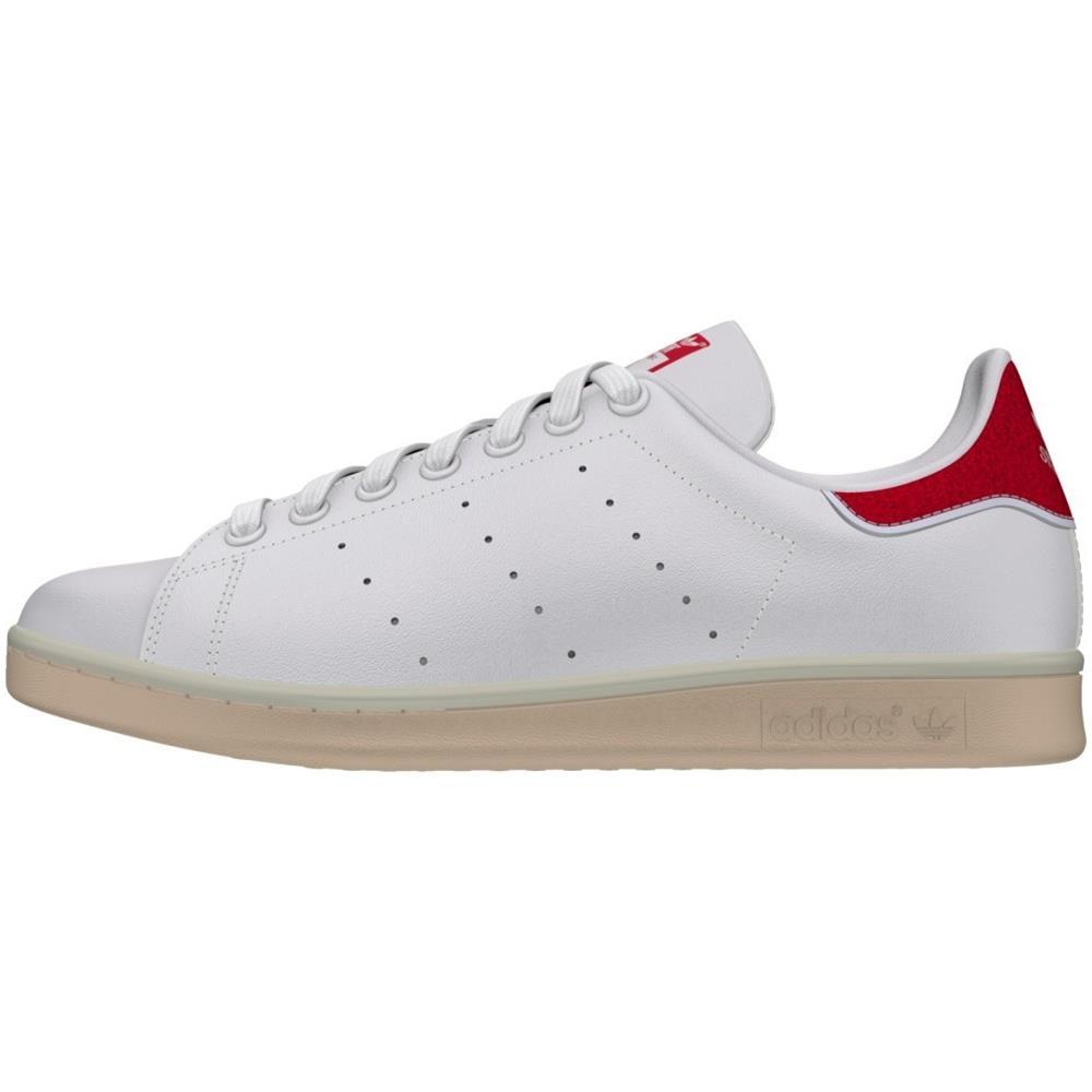 adidas Scarpe Stan Smith Donna 37,3 Bianco Rosso
