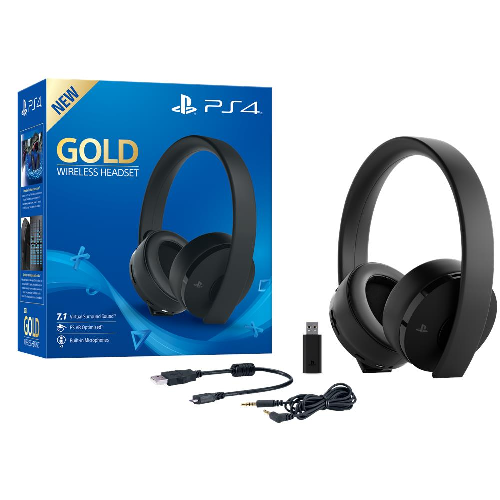 Cuffie Gold Wireless Headset per Ps4