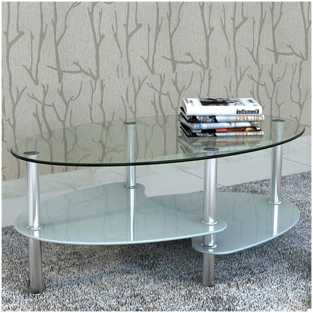 Tavolino Da Salotto Design.Vidaxl Tavolino Da Salotto Dal Design Esclusivo Con 3 Ripiani Eprice