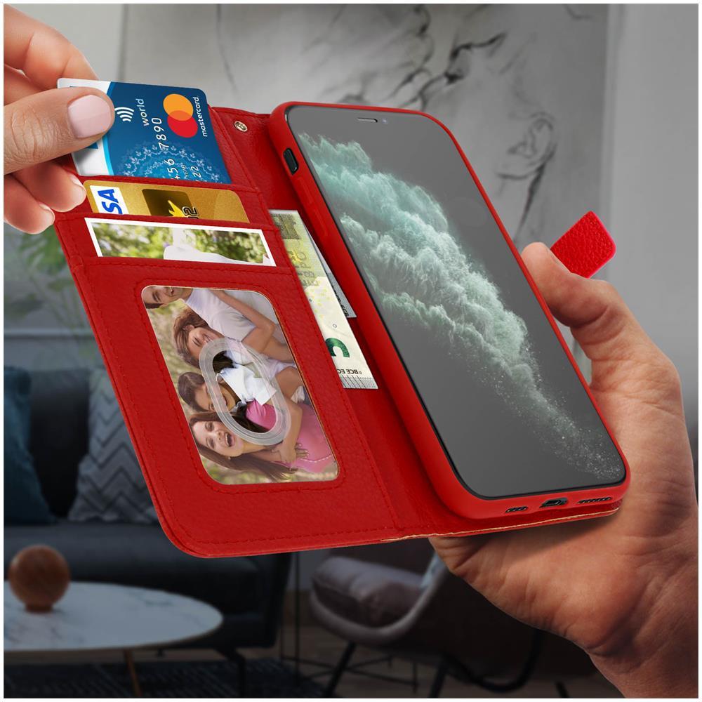 Avizar - Custodia Iphone 11 Pro Max Portafoglio Supporto Video