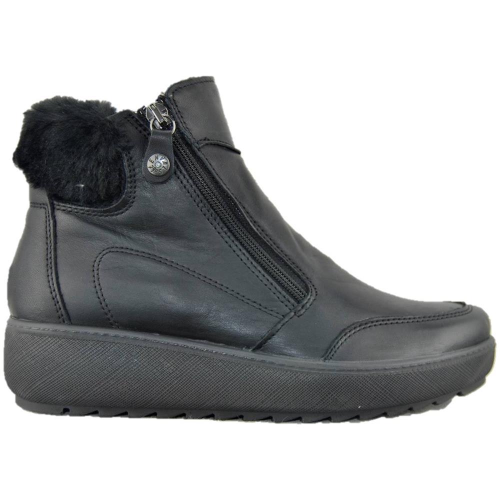 comprare on line ccc1f bc9e0 ENVAL SOFT 2272300 Stivaletto Nero Sneakers Zeppa Donna Pelle Nero 37